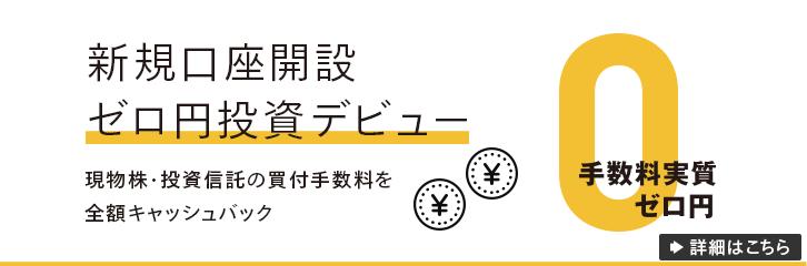 ゼロ円投資デビュー