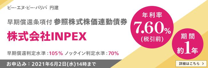 (5/13~5/27)仕組債INPEX